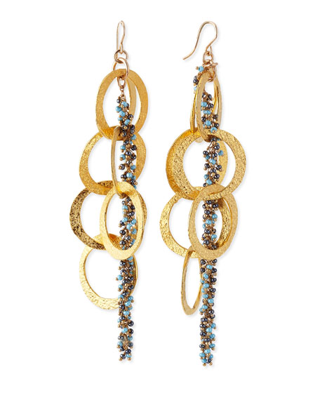 Devon Leigh Beaded 18k Yellow Gold Plated Linked