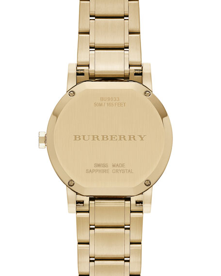 38mm Golden Watch with 5-Link Strap