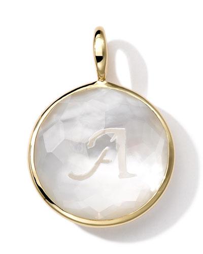 Ippolita 18k Gold Lollipop Letter Charm, Mother-of-Pearl Doublet