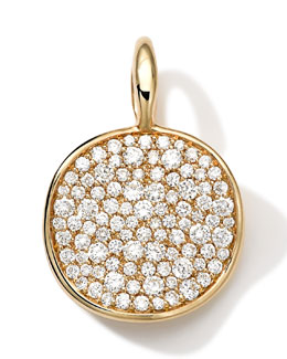 Ippolita 18k Medium Pave Diamond Disc Charm