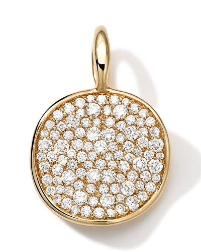 Ippolita 18k Medium Pave Diamond Disc Charm