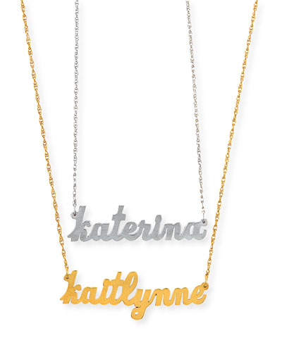 Serafina Personalized Mini Nameplate Necklace