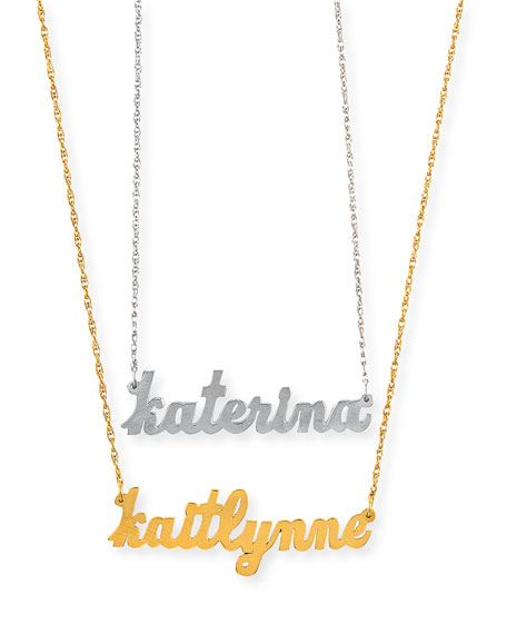 Jennifer Zeuner Serafina Personalized Mini Nameplate Necklace