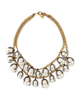 LuluFrost Decade Simulated Pearl Statement Necklace