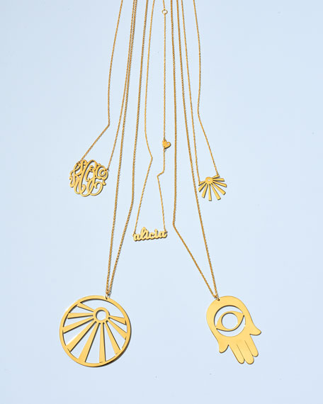 18k Gold Vermeil Medium 3-Letter Monogram Necklace