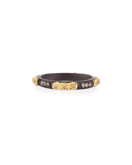 Armenta Stackable Ring with Champagne Diamonds, Size 6.5