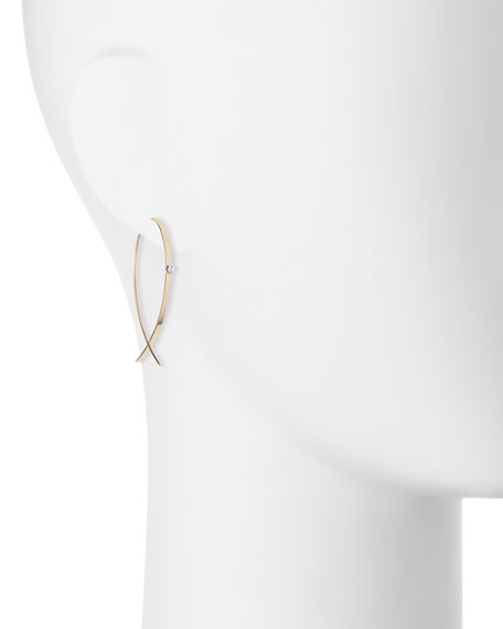 Small Flat Diamond Hoop Earrings