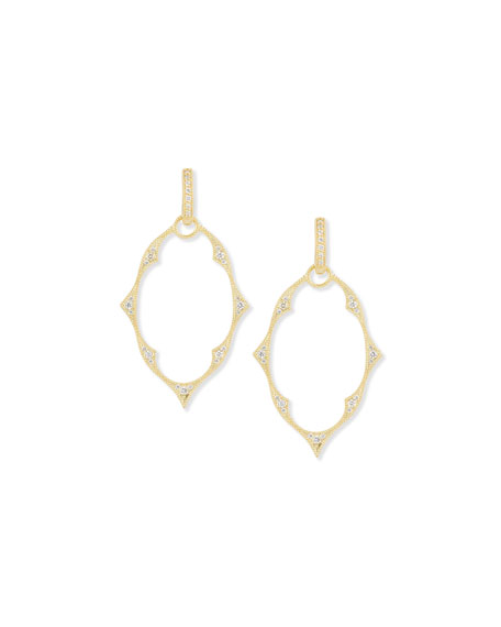 Yellow Gold Moroccan Earring Charm Frames