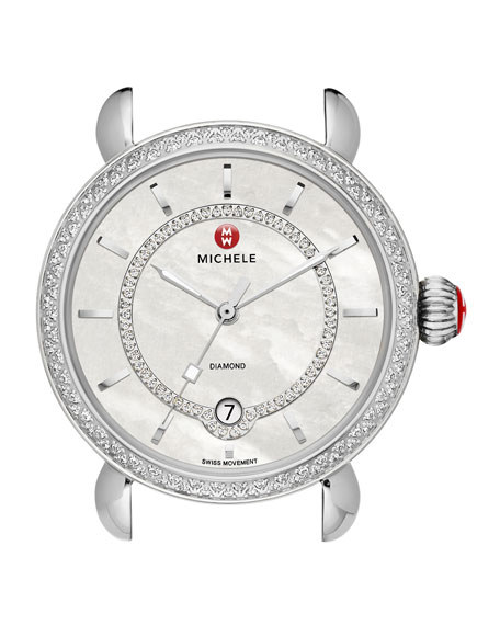 MICHELE CSX-36 Elegance Diamond Watch Head with Inner