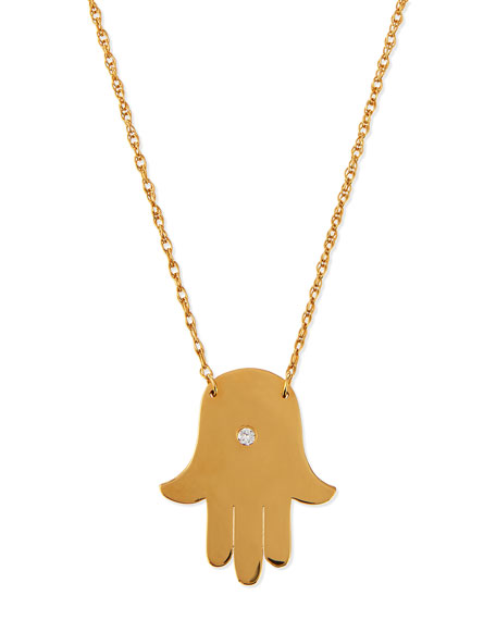 Jennifer Zeuner Rachel Hamsa & Evil Eye Necklace