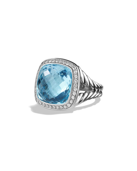 David Yurman Albion Ring with Blue Topaz and