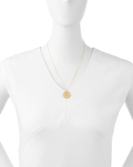 Moon and Lola Providence Mirrored Acrylic Reverse Monogram Pendant Necklace