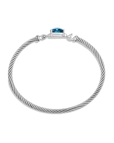 Petite Wheaton Bracelet with Hampton Blue Topaz and Diamonds