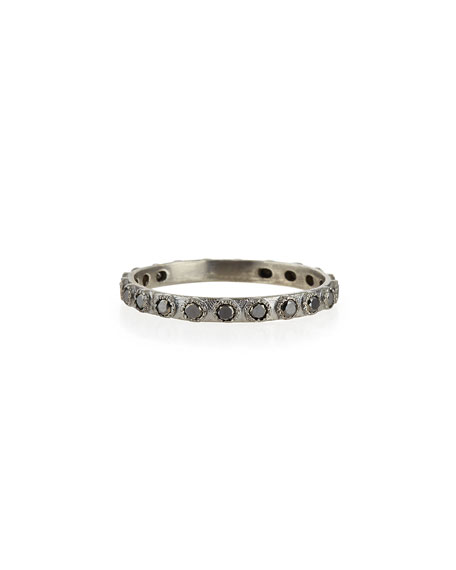 Armenta Black Diamond Silver Stackable Ring 6yYzaLTTP9