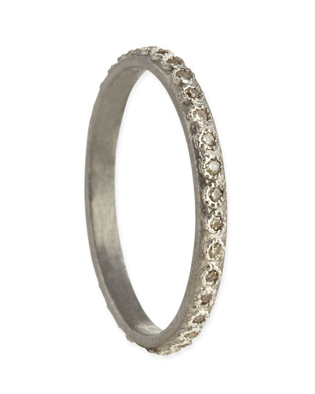 Armenta Champagne Diamond Silver Stackable Ring