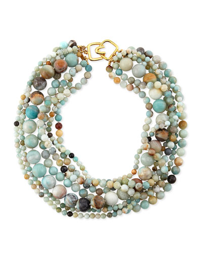 Multi-Strand Amazonite Bead Necklace
