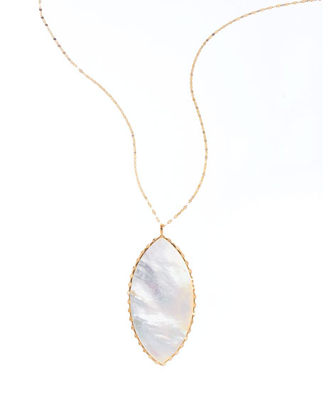 Lana Isabella White Mother-of-Pearl Pendant Necklace