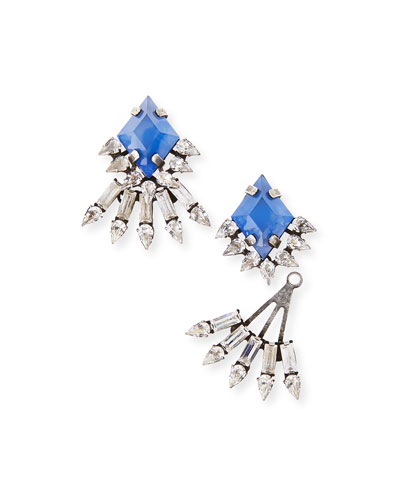 Lauder Crystal Jacket Earrings