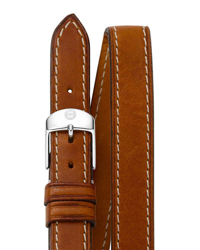 16mm Double-Wrap Leather Strap, Tan
