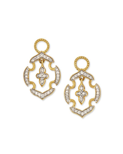18k Gold Malta Diamond Earring Charms