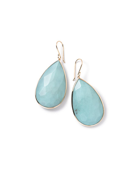 Ippolita 18k Rock Candy Turquoise Teardrop Earrings