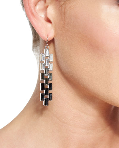 Ombre Baguette Crystal Earrings