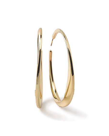 Ippolita 18K Glamazon Heavy Bottom Large Hoop Earrings