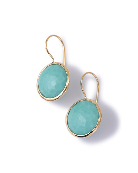 Ippolita 18k Gold Lollipop Drop Earrings, Turquoise