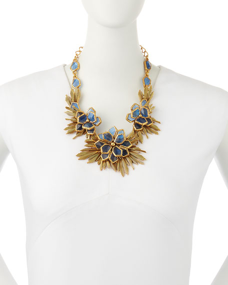 GOLD WILD FLOWER NECKLACE