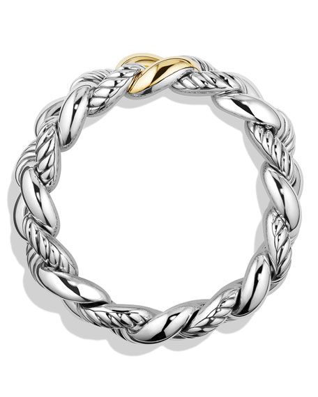 Belmont Curb Link Bracelet with 18k Gold