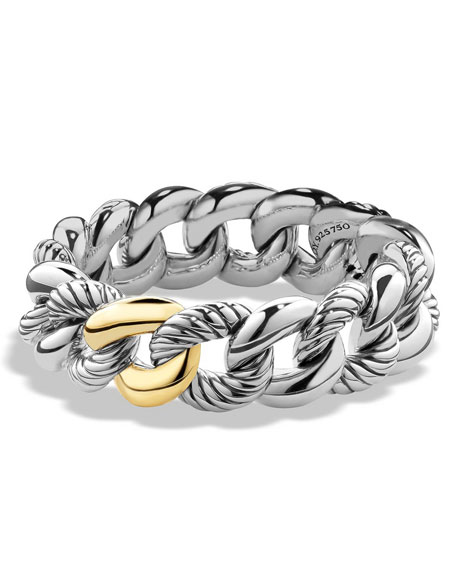 David Yurman Belmont Curb Link Bracelet with 18k