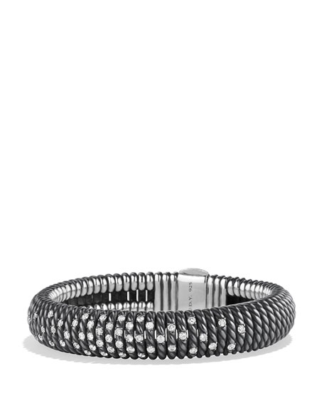 David Yurman 12mm Tempo Spiral Black Spinel Cuff
