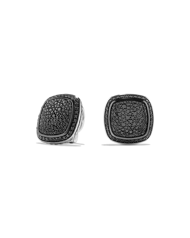 Albion Earrings With Black Diamonds 14mm