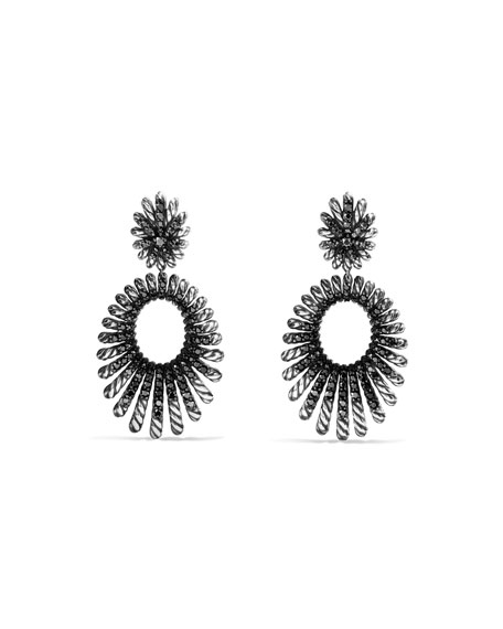 David Yurman Tempo Double-Drop Black Spinel Earrings