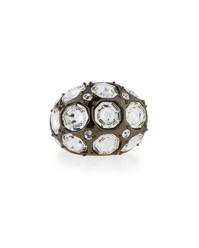 Crystal Octagon Cocktail Ring