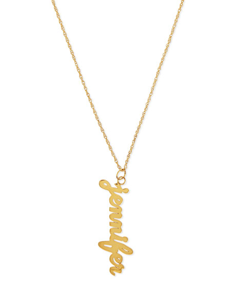 Serafina Vertical Gold Vermeil Necklace