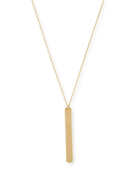 """Amazon Engraved Pendant Necklace, 18-32""""L"""