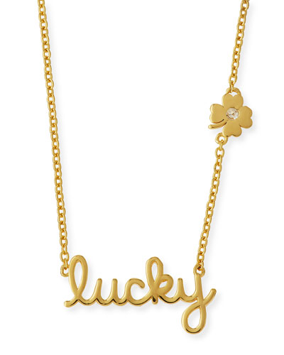 Lucky Diamond-Clover Pendant Necklace