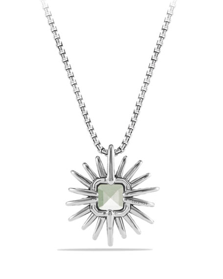 23mm Prasiolite Starburst Pendant Necklace