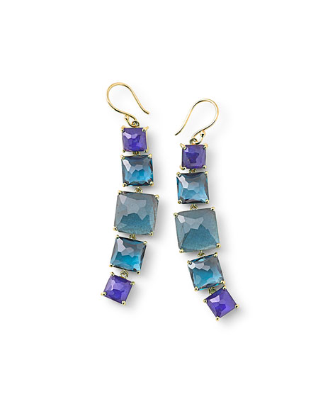 Ippolita 18k Rock Candy 5-Stone Linear Earrings in Liberty