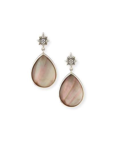 Verona Gray Mother-of-Pearl Doublet Teardrop Earrings