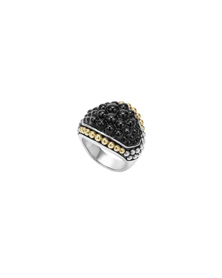 Lagos Black Caviar Onyx Dome Ring, Size 7