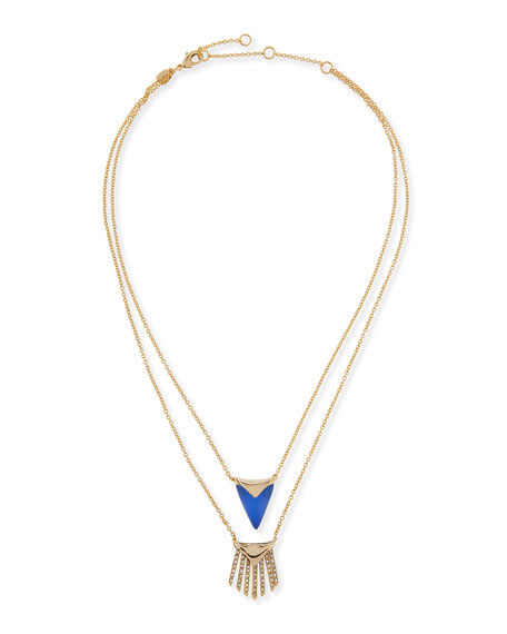 Alexis Bittar Lucite Layered Fringe Necklace