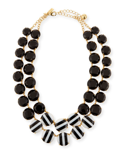 the right stripe statement necklace