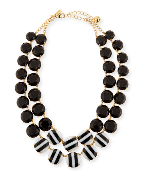 kate spade new york the right stripe statement necklace
