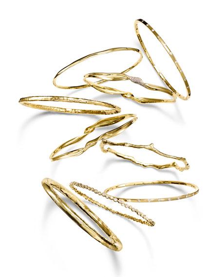 18K Gold Senso™ Thin 28-Stone Bangle with Diamonds (.68ctw)