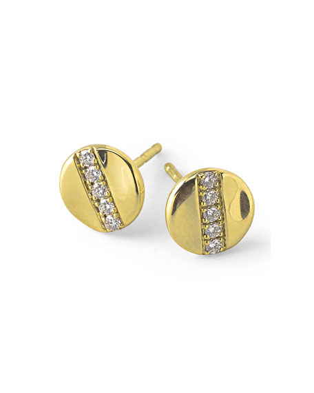 Ippolita 18K Gold Senso?? Stud Earrings with Diamonds