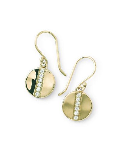 18k Glamazon Stardust Small Disc Earrings with Diamonds