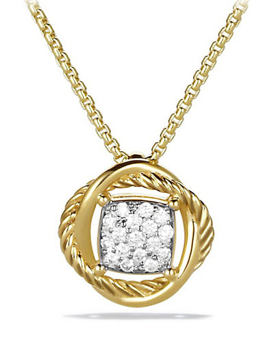 Infinity Necklace with Diamonds in Gold