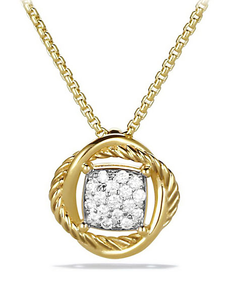 David YurmanInfinity Necklace with Diamonds in Gold